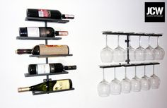 Wine rack and hanger for glasses Material: Powder Coated Steel www.jcw.com.pl