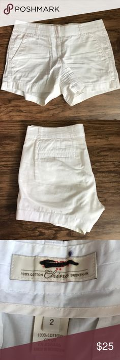 J. Crew Chino shorts Perfect condition! White chino shorts, worn one time, no stains, holes or rips. J. Crew Shorts