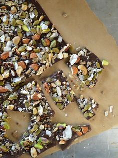 Salted Trail Mix Dark Chocolate Bark