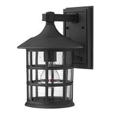 Freeport Black LED Outdoor Medium Wall Sconce