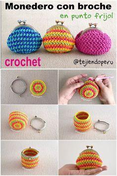 Marvelous Crochet A Shell Stitch Purse Bag Ideas. Wonderful Crochet A Shell Stitch Purse Bag Ideas. Crochet Wallet, Crochet Coin Purse, Bag Crochet, Crochet Diy, Unique Crochet, Crochet Handbags, Crochet Purses, Crochet Gifts, Minion Crochet