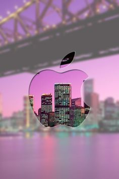 See through apple logo