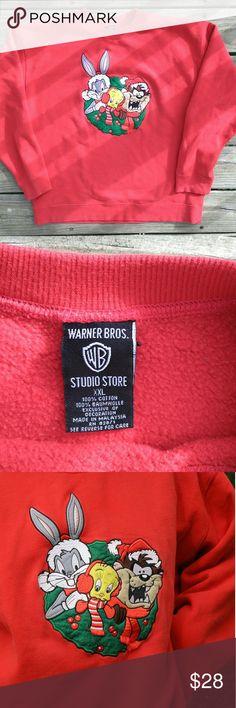 Looney tunes Christmas Sweatshirt  Looney tunes Christmas 🎄🎄🎄😍😍😍😍I love this Sweatshirt so comfortable and cute💟💟💟size xxl in great condition 😍😍 Vintage Tops Sweatshirts & Hoodies