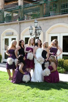 Feather pomanders and bouquets and wine hues for my November winery wedding at South Coast Winery in Temecula, CA. Bouquets by https://www.etsy.com/shop/ChloeAnnDesigns?ref=shopinfo_shophome_leftnav