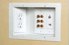 Organized outlet... Space saver!!