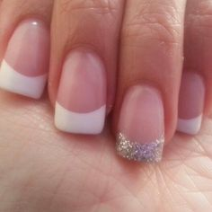 Glittering French Nails