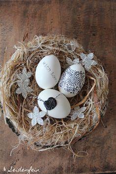 seidenfeins Blog vom schönen Landleben: 10 Minuten Ostereier * DIY * 10 minutes easter egg