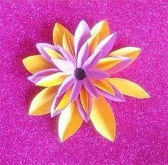 Yellow & Purple Lotus Paper Flower