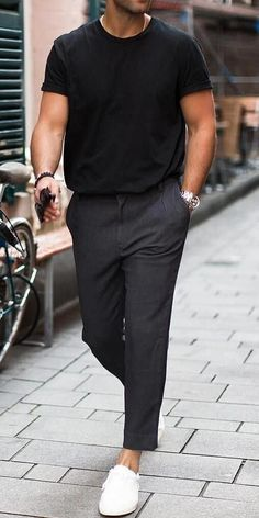 4 minimalist summer outfits to try - PS 1983 # .- 4 minimalistische Sommeroutfits zum Ausprobieren – PS 1983 4 minimalistic summer outfits to try – PS 1983 out - Outfits Casual, Summer Outfits Men, Stylish Mens Outfits, Men Casual, Men Summer, Hipster Outfits, Casual Summer, Cool Outfits For Men, Casual Ootd
