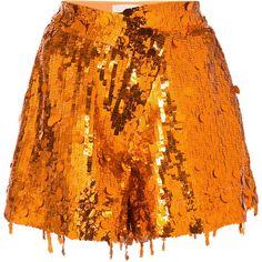 Monse sequins shorts ($2,490) ❤ liked on Polyvore featuring shorts, grey, silk shorts, gray shorts, metallic shorts, sequin shorts and grey shorts
