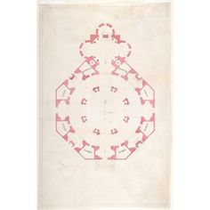 Design for a Church with a Central Octagonal Plan Poster Print by Anonymous Italian 16th to early 17th century (18 x 24) #italianinteriordesign