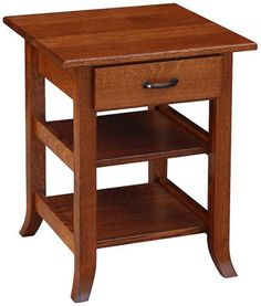 You'll save on every piece of furniture at Amish Outlet Store! We custom make every item, and you can get the Bunker Hill Lamp Table in Oak with any wood and stain.