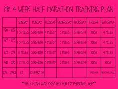 4 Week Half Marathon Training Plan Archives - Janelle Runs