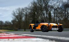 The Caterham Supersport Seven, a road-going version of the lightweight track variant of the manufacturer's Seven range
