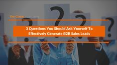 Generating B2B sales leads is by no means a child's play. Sales prospecting plays a vital role in making the process successful, asking yourselves these questions will give you a clear idea about whether to devote more time to the particular lead or move on to other promising ones.