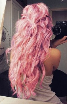 Pastel Pink Hair #pastel #pink #hair www.loveitsomuch.com