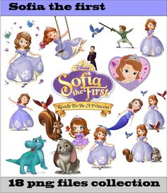 Sofia The First Collection PNG Vector Instant Download Disney Clipart Digital Albums Magnet Collage Greeting Sticker Printable Party Items by SlavGraphics on Etsy