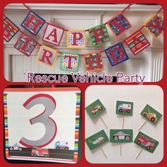 Rescue Vehicle Birthday Decorations by LittleHeroesAndMe on Etsy