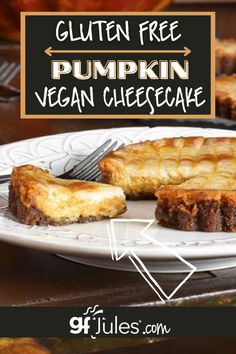 A perfect fall cheesecake, this gluten-free, vegan pumpkin cheesecake is going to knock your socks off, whether you avoid dairy or not. Seriously, this cheesecake is a family favorite. Feel free to use regular cream cheese, sour cream, and butter, but know that the recipe also works deliciously with non-dairy alternatives.