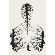 'The Walk' Graphic Art Print - Art Drawings Cool Art Drawings, Pencil Art Drawings, Art Drawings Sketches, Easy Drawings, Drawing Ideas, Drawings Of Trees, Art Inspiration Drawing, Fantasy Drawings, Drawing Projects