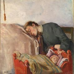 """Some things are timeless, like a parent's exhaustion (and love, duh) ❤ """"Mother and Child"""" by Christian Krog (1883) at @nasjonalmuseet in Oslo  .  .  .  .  .  #nasjonalmuseet #nationalmuseum #sleepyhead #norwegianart #norway #oslo #museumsofoslo #visitoslo    #Regram via @B81VIpHJLct"""