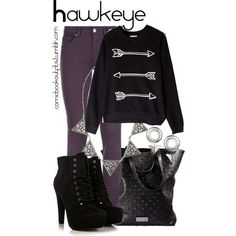 Hawkeye by m-gnoud on Polyvore featuring Zoe Karssen, 7 For All Mankind, Armani Exchange and Topshop
