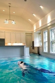 Cool Flooring Ideas put a 3-d floor in your kitchen wow! and gussy up those