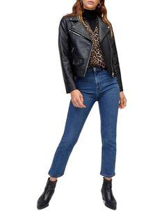 Women's Coats & Jackets | Shop Women's Coats & Jackets Online | MYER Faux Fur Cropped Jacket, Oversized Denim Jacket, Striped Jacket, Blazer Fashion, Print Jacket, Black Blazers, Jackets Online