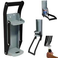 Heavy gauge steel construction with cushion grip Wall Mounted Can Crusher with Bottle Opener 500ml Can Crusher for16oz and 12oz
