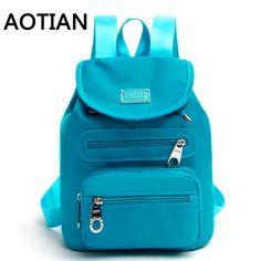 18.32$  Buy here - http://ali3we.shopchina.info/1/go.php?t=32690479469 - Real Brand 2017 AOTIAN New Casual Women Backpack Female Backpacks High Quality Nylon Women Bag Women's Travel Backpack  #aliexpresschina