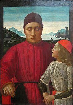 Francesco Sassetti and His Son Teodoro by Domenico Ghirlandaio, c. 1487.
