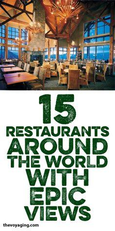 15 Restaurants Around The World With Epic Views