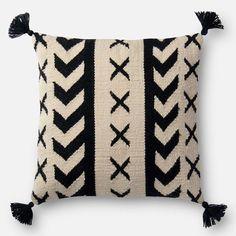 Crosshatch Tassel Pillow - Neutral - Pillows - Accessories