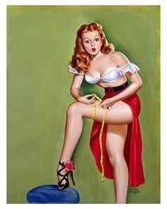 Pin Up retro style art with beautiful sexy women