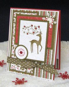 A Dasher Merry Christmas Card...by pam124-Cards and Paper Crafts at Splitcoaststampers.
