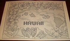 1985-Hawaiian-Islands-Map-Pattern-Graph-Counted-Cross-Stitch-Chris-Faye-OOP