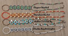 Pretty Beaded Barefoot Sandal Anklet Tutorial - The Beading Gem's Journal