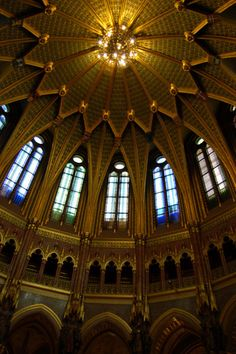 Inside at the Parliament House in Budapest