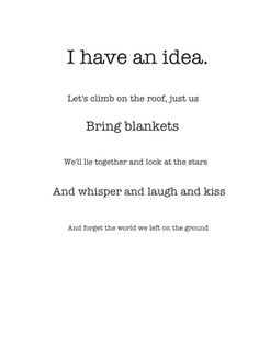 Only good ideas ..