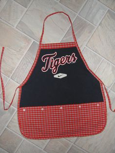 Kids Tigers Apron by funfoodsaprons on Etsy