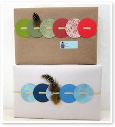 Wrapping with circles! http://olderandwisor.blogspot.com/p/31-ways-to-wrap-your-crap.html