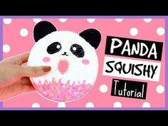 DIY: Cute Panda Donut Squishy Tutorial ♥ - YouTube