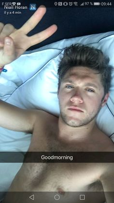 This morning on snapshat... Gosh I'm dying *----*