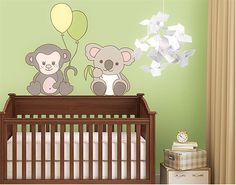wall decal Little monkey and koala