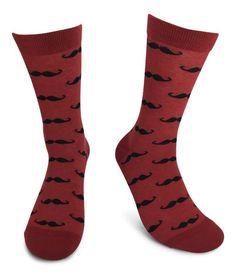 Burgundy with Black Mustaches Men's Wedding Party Socks Argyle Socks, Men's Socks, Sock Store, Navy Groom, Groomsmen Socks, Mustache Men, Colorful Socks, Happy Socks, Dress Socks