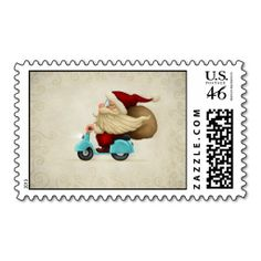 Speedy Santa Claus Postage Stamp #SantaClaus #PostageStamp #Christmas  http://www.zazzle.com/speedy_santa_claus_postage_stamp-172172367465182827?rf=238194283948490074&tc=Pin