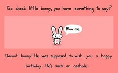 Happy Birthday Bunny - Funny Happy Birthday Quote