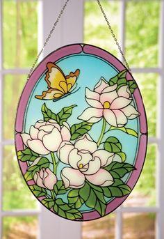 Floral Magnolia Hanging Suncatcher