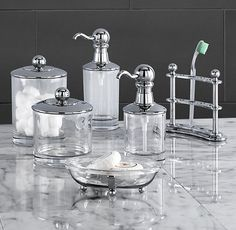 vintage bathroom accessories from restorationhardwarecom - Bathroom Accessories Vintage Look