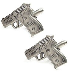 These gunmetal finish revolver cuff links are full of detail and fabulously made. Free Black, Revolver, Armed Forces, Hand Guns, Cufflinks, Army, Club, Detail, Special Forces